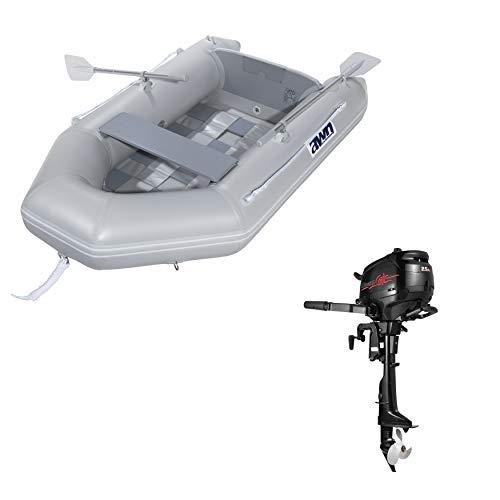 Juego de botes hinchables y motor fueraborda de 2,5 CV, barco de...