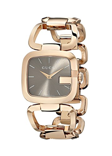 Gucci YA125408 - Reloj de Cuarzo para Mujer, con Correa de Acero Inoxidable Chapado, Color Dorado