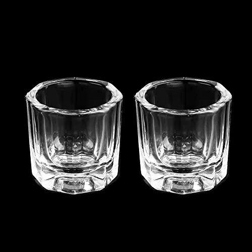 Aruza 2 Pack Nail Dappen Dish, Nail Glass Crystal Cup for DIY Nail Art