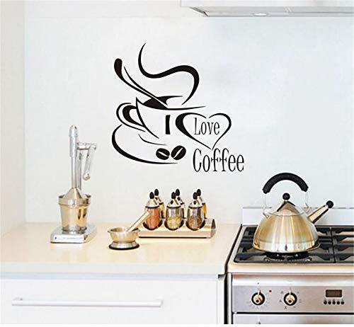Autoadesivo da Muro Carta da Parati Vinile Decalcomania Arte I Love Coffee Adesivi murali