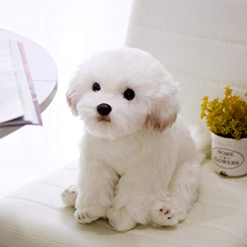 Ornaments Sculptures Statue Figurines Decorations super cute simulation Maltese dog plush sweet baby play doll home decoration Christmas birthday gifts for kids-Maltese_dog