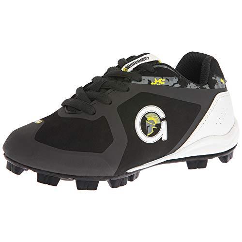 Guardian Blaze Baseball Cleats for Boys Shoes Youth Little Kid Rubber Turf Little League, Durable, Breathable - Black, 12