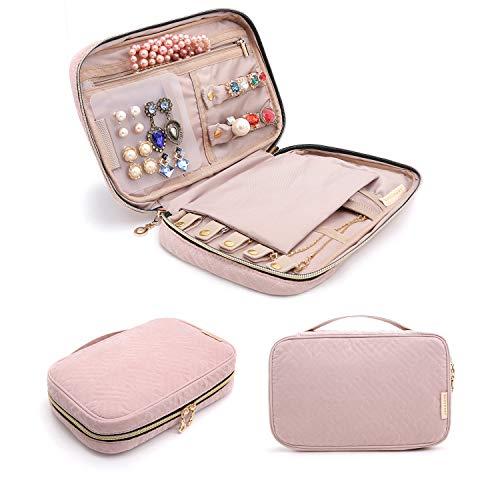 bagsmart Jewelry Organizer Case Travel Jewelry Storage Bag for Necklace,...