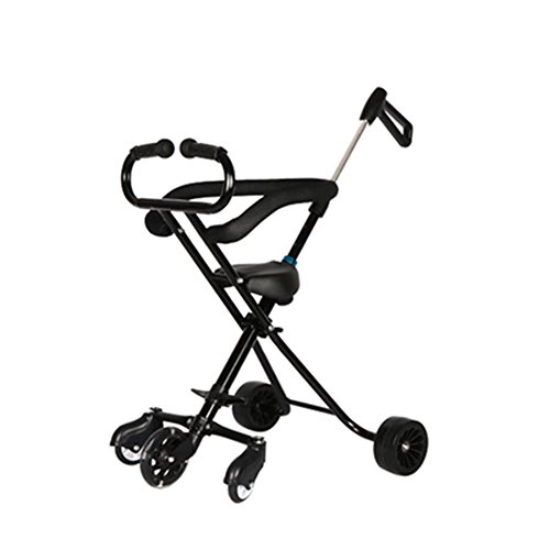Buy Bargain Trolley LXZXZ - 1-6 Year Old Children's Cart 5 Rounds Convenient Folding Children's Tour...