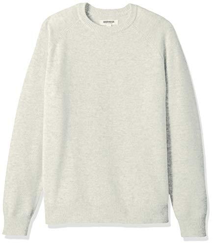 Amazon Brand - Goodthreads Men's Lambswool Stripe Crewneck Sweater, Light Grey, X-Large