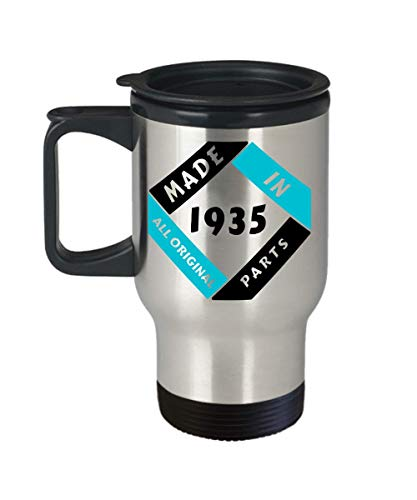 Made in 1935 Birthday Travel Mug Gift Fun All Original Parts Novelty 85th Celebration