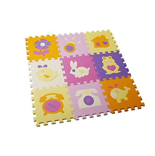 Camisin 9 Piezas Baby Eva Foam Puzzle Mats Alfombras para Niios Juguetes Alfombra para Niios Ejercicio de Enclavamiento Baldosas Alfombra para Niios B