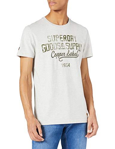 Superdry M1011196A Camiseta, Off White Marl, 3XL para Hombre