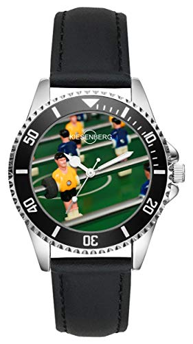 Tischfussball Kicker Geschenk Artikel Idee Fan Uhr L-2663