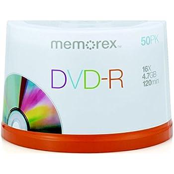 Memorex 4.7Gb/16x DVD-R 50-Pack Spindle
