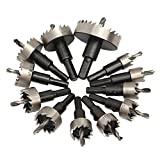Cortador de la herramienta Set 12pcs agujero diente de sierra HSS Juego de núcleo de acero Broca para madera metal de la aleación