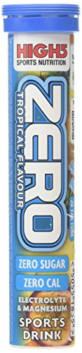 High 5 Zero Tropical Flavour Electrolyte and Magnesium Sports Drink Tabs (Pack of 20) - Transparent