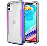 AHI Defense Shield, iPhone 11 6.1 Inch Case - Military Grade Drop Tested, CNC Anodized Aluminum Metal, TPU, and Polycarbonate Protective Case for Apple iPhone 11 (Iridescent)