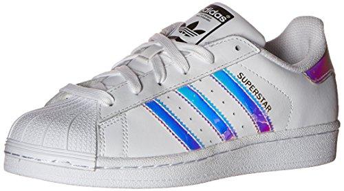 adidas Originals Superstar Sneakers Unisex per Bambini, Bianco (Bianco/Bianco/Argento), 40 EU
