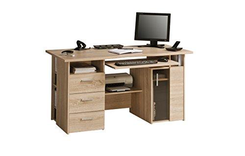MAJA-Möbel 4052 5525 Schreib- und Computertisch, Sonoma-Eiche-Nachbildung, Abmessungen BxHxT: 144 x 76 x 67 cm