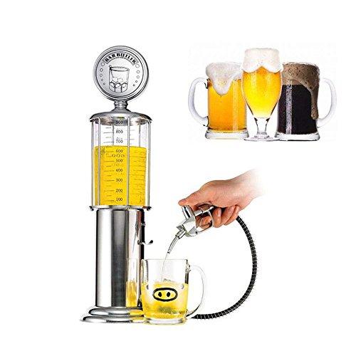 Aolvo Dispensador de bebidas con diseño de bomba de gasolina, decantador de licor, 1000 ml, juego de decantador de bourbon, dispensador de bebidas, máquina para cerveza, vino, agua y jugo