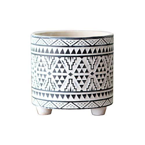 U/D Ceramica Vasi Tradizionali Cesto per fioriera Interno All'aperto Vasi di Fiori Copertina Cesto portaoggetti Contenitori per Piante per l'arredamento della casa D-L