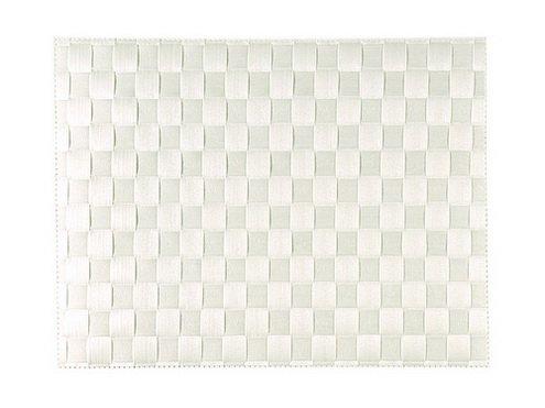 1x Saleen Tischset 36cm, Farbe weiß Gewebe 22/22, Tischläufer, Wohntextilien