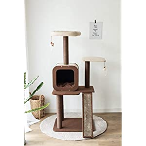 PetPals Four-Level Voyage, Cat Activity Tree with Replaceable Scratching pad.
