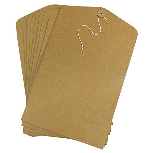 Zoohot 10 pezzi dimensione a4 buste con corda - carta kraft Cartelle portadocumenti per uffici materiale scolastico