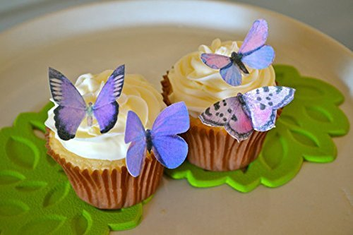 ArtMuseKitsMikash Edible Butterflies - Small Assorted Set of 24 - Cake and Cupcake Toppers, Decoration