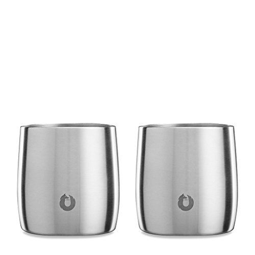 SNOWFOX Stainless Steel Everyday Collection Insulated, Whiskey Rocks Glasses, Set of 2