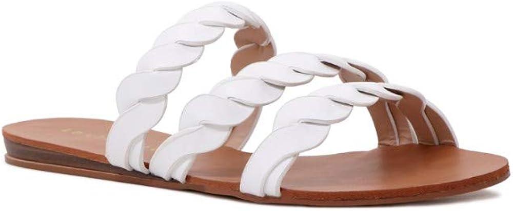 Women's Braided Slide Strap Flat Sandals