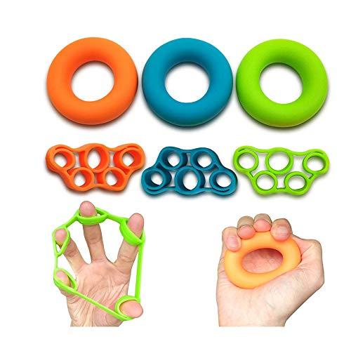 Check Out This lijunjp 6PCS Hand Grip Strengthener, Finger Exerciser, Grip Strength Trainer, 3 Level...