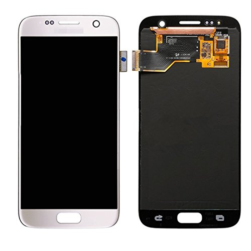 IPartsBuy LCD-scherm + Touch Screen Digitizer Vergadering Vervanging for Samsung Galaxy S7 / G930 Accessory Verwisselbare Replacement (Color : White)