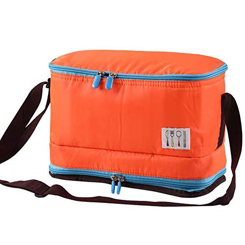 Aehma Lunchtasche Kühltasche Mittagessen Tasche Thermotasche 7.5 Liter mit Handgriff/Schultergurt, Bento Box Tasche für warm oder kalt Essen zum langzeitigen Halten (Orange)
