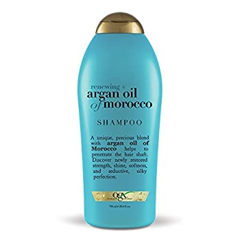 OGX Renewing + Argan Oil of Morocco Hydrating Hair Shampoo Cold-Pressed Argan Oil to Help Moisturize Soften & Strengthen Hair Paraben-Free with Sulfate-Free Surfactants 25.4 fl oz