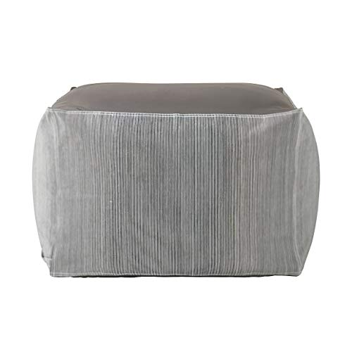 無印良品 体にフィットするソファ・綿デニムヒッコリー・セット 幅65×奥行65×高さ43cm 82873344, 大