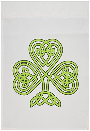 3dRose fl_108308_1 Celtic Shamrock Irish Garden Flag, 12 by 18-Inch