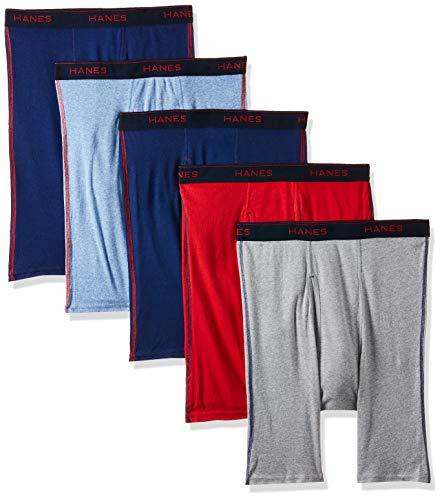 Hanes Men#039s 4Pack Long Leg Boxer Briefs Assorted XXLarge