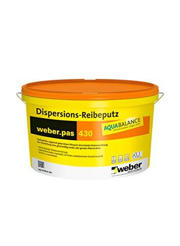 weber.pas 430 AquaBalance Dispersions-Reibeputz 3 mm Oberputz Edelputz Strukturputz 25 kg
