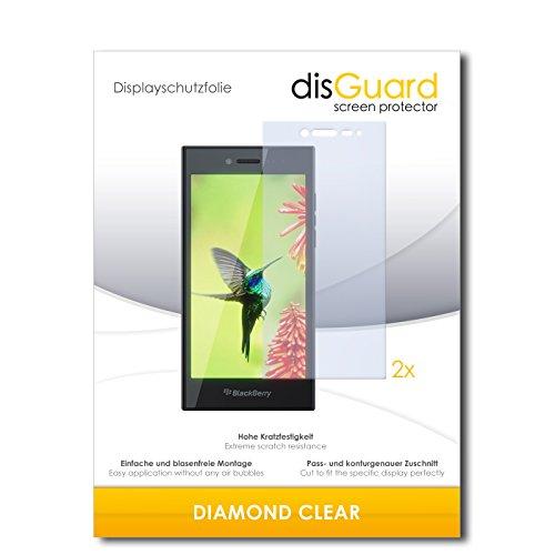 disGuard 2 x Bildschirmschutzfolie BlackBerry Leap Schutzfolie Folie DiamondClear unsichtbar
