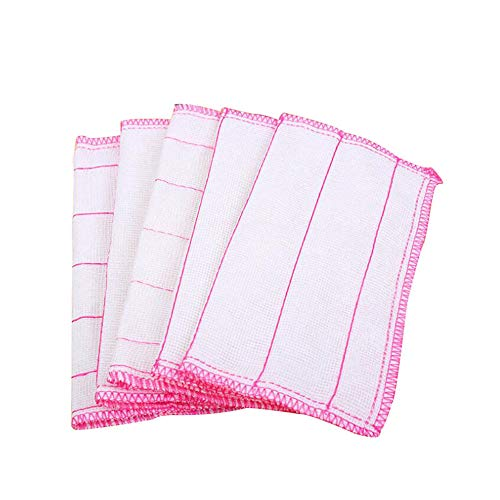 セーフラン(SAFERUN) 多目的ふきん 100枚セット 27x27cm 食器拭き 台拭き 布巾 白地にピンク