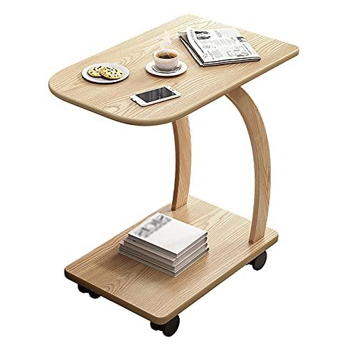 VIY Mesa para Ordenador portátil de bambú, Mesa de Cama, Bandeja para Ordenador portátil, Mesa de Apoyo, 30 * 46 * 57cm