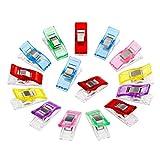 50pcs merveille clips quilting accessoires multicolore goupilles de quilting clips en plastique pinces pour la fabrication de couture, multicolore