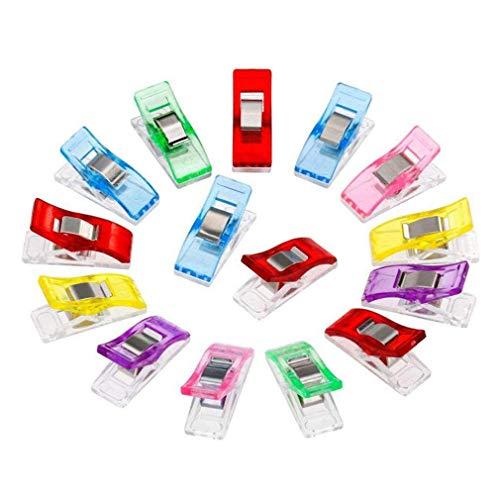 MagiDeal 50 Pezzi di Accessori per Quilting Wonder Clips Multicolor Pin Quilting Clip di plastica Morsetti per Cucito, Multicolore