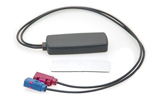 Alda PQ antenne voor glasbevestiging voor 2G (GSM), 3G (UMTS), GPS FAKRA/F Blue Code C FAKRA/F Bordeaux Code D-stekker 3 dBi winnaar
