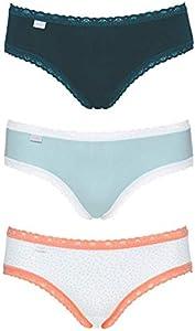 Sloggi 24/7 Weekend Hipster Braguita, Turquesa (Turquoise-Light Combination M024), 44 (Talla del Fabricante: 42) (Pack de 3) para Mujer