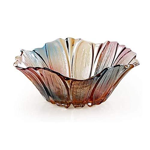 WYJBD European Creative Kristallglas Obstteller, Modern Wohnzimmer Couchtisch Einfache Dörrobstschale
