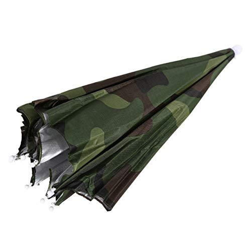 ZGMMM Angeln Outdoor Sport Regenschirm Camping Headwear Cap Kopf Hüte Camouflage Faltbare Sonnencreme Schatten Regenschirm Hut Frankreich Tarnung