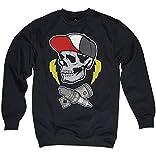 NG articlezz Schrauber Skull Pullover Sweater Mechaniker Totenkopf schwarz Gr. S – 3XL