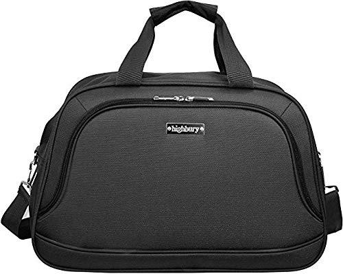 DUA-Highbury Lightweight Strong Cabin Sized Approved Hand Luggage/Flight Bag/Travel Bag/Over Night Bag Black 5 Year Warranty