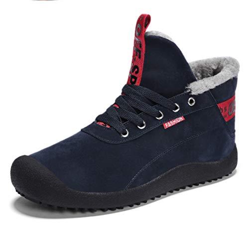 AZLLY katoenen laarzen voor heren, winterlaarzen met lederen voering, licht en hoog, antislip, voor trekking, skiën