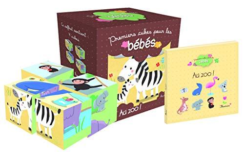 Au zoo ! : Coffret 4 cubes et 1 livre