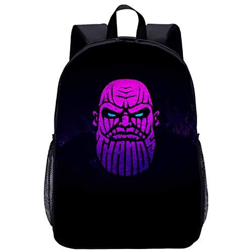 BATEKERYAS Thanos Children's Backpack Waterproof Fashion Schoolbag Boys and Girls 3D Cartoon Pattern Design