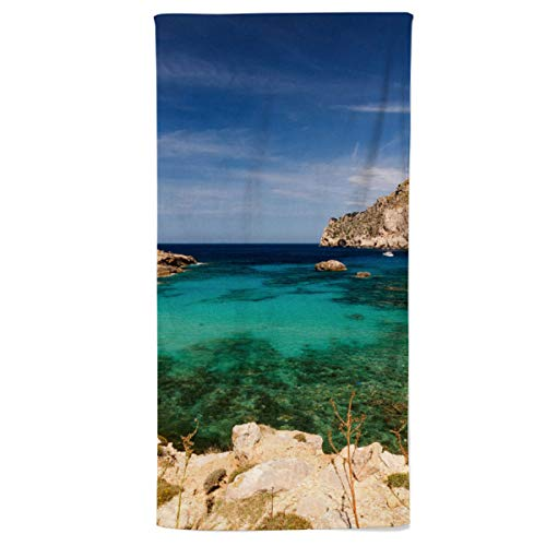 fotobar!style Handtuch 50 x 100 cm Cala Figuera - Mallorca, Spanien
